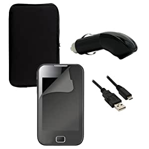 Omenex 639104 - Funda de neopreno, protector de pantalla, cable micro USB y cargador para coche (1 A)