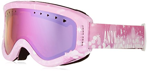 Anon Youth Tracker Goggles, Farie Frame, Pink Amber Lens, One - Goggles Anon Ski