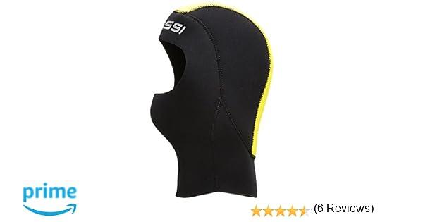 Cressi Hood Man Castoro - Capucha de buceo, color negro/amarillo, talla M (3-4): Amazon.es: Deportes y aire libre