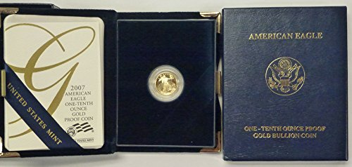 2007 W Gold American Eagle One Tenth Ounce $5 Proof US Mint