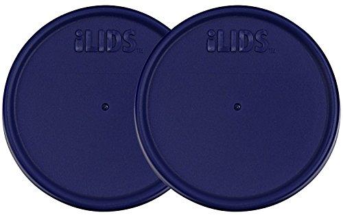 ILids Wide Mouth Mason Jar Storage Lid, Cobalt, 2-Pack