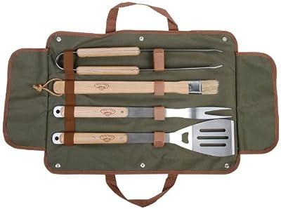 Esschert Design USA GT37 BBQ Tool Set with Canvas Bag
