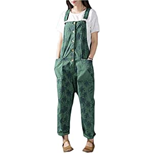 Women's Loose  Wide Leg Jumpsuits Rompers Overalls Harem Pants Distressed