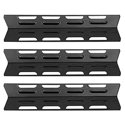 SHINESTAR Grill Replacement Parts for Perfect Flame SGL2008A, SLG2007A, Master Forge B10LG25, Uniflame and Others, 3-Pack 16 1/8 inch Porcelain Steel Heat Shield Plate Tent BBQ Burner Cover(SS-HP028)