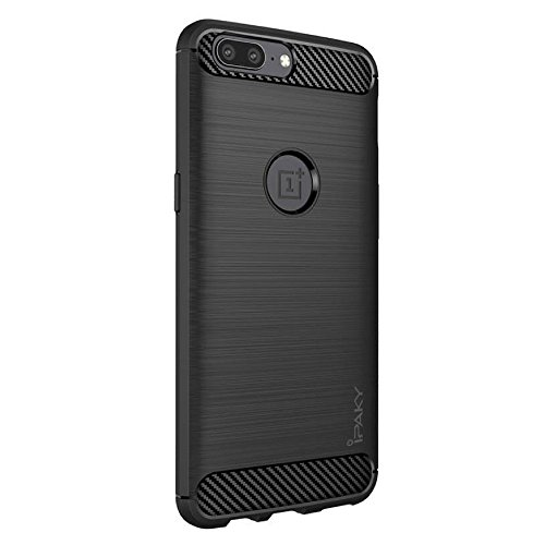 A10SHOP iPaky Original Shockproof Slim TPU Case Cover for OnePlus 5 (Black) (5 Iphone Encase)