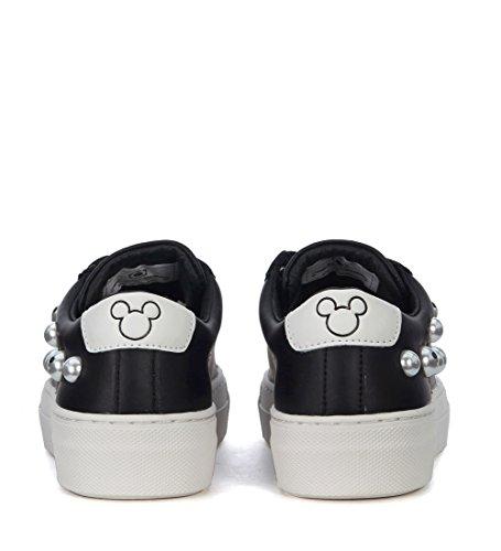 Sneaker Læder I Sort Sorte Perler Med Mickey Moa Mouse 1TwqEEA