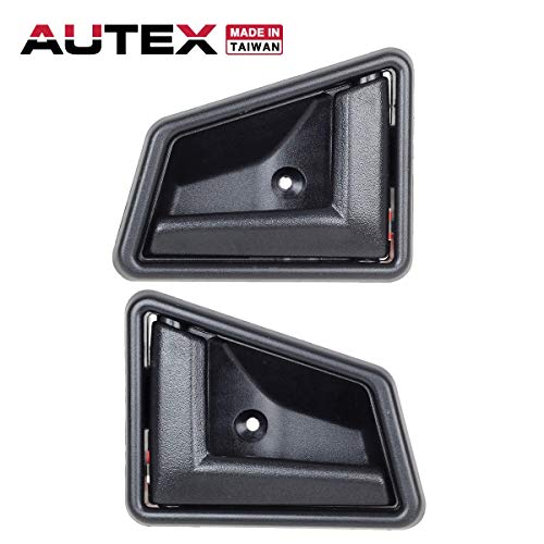 AUTEX 2pcs Black Interior Door Handles Set Front/Rear Left Right Driver LH Passenger RH Side Compatible with Geo Tracker,Suzuki Sidekick 89-97 8311056B015ES 8313056B015ES