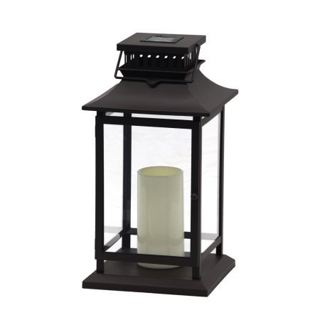 Better Homes and Gardens Estes Park Outdoor 20 in. Solar Lantern by Better Homes & Gardens