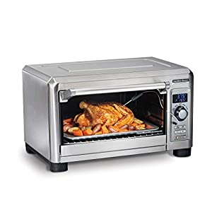 Hamilton Beach Professional Digital Convection Countertop Toaster Oven, Large 6-Slice, Temperature Probe, Bake Pan and Broil Rack, Stainless Steel (31240)