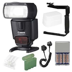 Canon Speedlite 430EX II Flash + Deluxe Flash Bracket Accessory Kit for Canon Digital SLR Cameras