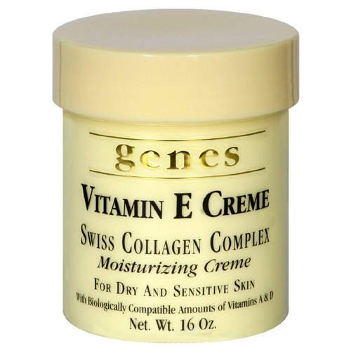 GENES Vitamin E Swiss Collagen Creme - 16 oz (2 PACK - Total 32 oz) Body Care / Beauty Care / Bodycare / BeautyCare