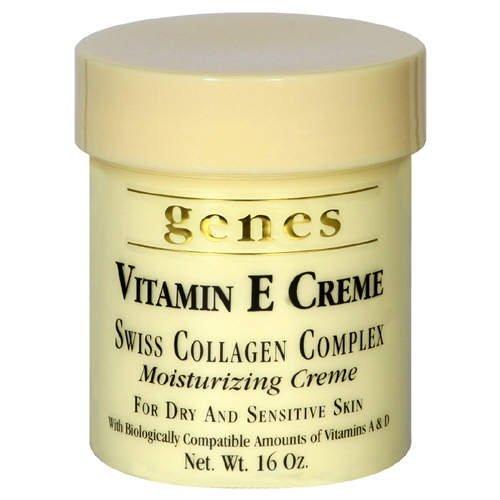 Genes Revives the skins freshness and vitality Vitamin E Creme 3Packs (16 oz.) Helps Heal Severe