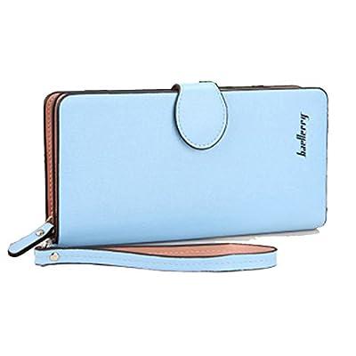 Gottowin Womens Wallets PU Leather Wristlet Clutch Handbag Organizer with Strap Phone Wallet