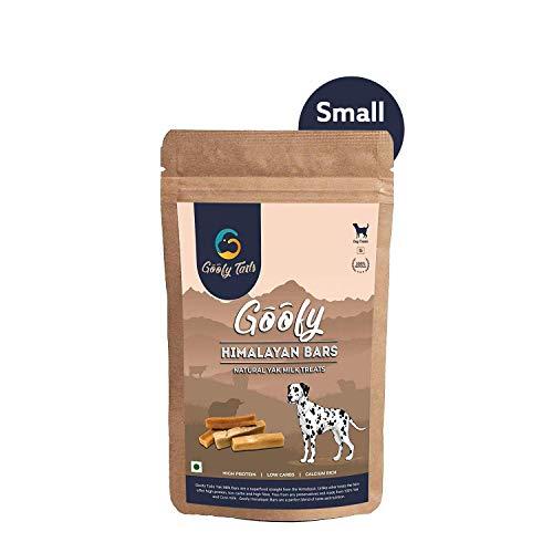 Goofy Tails Himalayan Natural Yak Milk Churpi Dog Chew Treats   2 Small Size Bones per Pack   Pack of 1