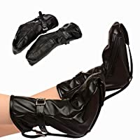 Cock Rings Foot Black Leather Bondage Gear Set BDSM Fetish Restraints Bed Fantasias Sexy Erotic Toys Sex Tools for Sale Adult Game