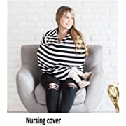 Nursing Cover, Breastfeeding Cover, Best Breastfeeding Cover - 100% Cotton 360° Breastfeeding Cover By Best Baby Store Inc. - 360° Coverage, Elastic 100% Cotton, Use As Blanket, Protect From Germs.