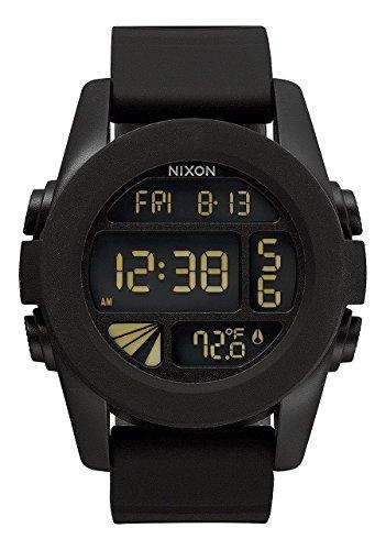 Nixon Unit Watch 44mm All Black LCD Display Thermometer ()