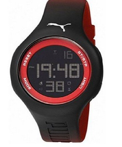 Puma PU910801031 Loop L Red Digital Sports Silicone Watch