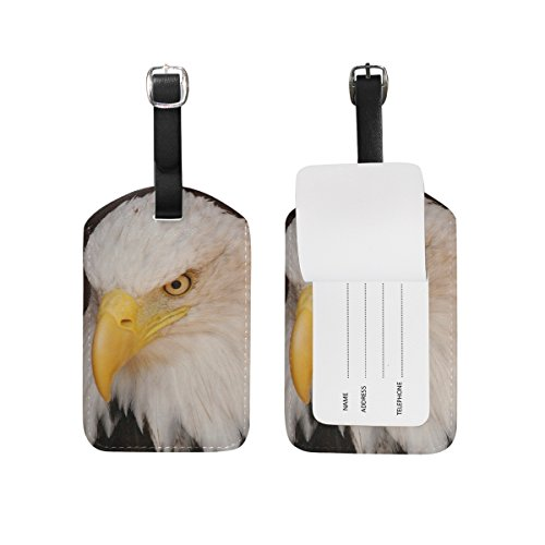 Price comparison product image American Bald Eagle Luggage Tags Bag Travel Labels Tag for Baggage Suitcase