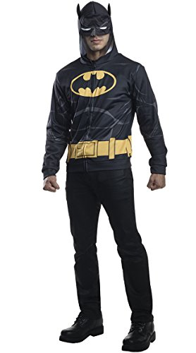 Batman Cosplay Costume For Sale (Rubie's Costume Co Men's Batman Hoodie, Black, Medium/Large)