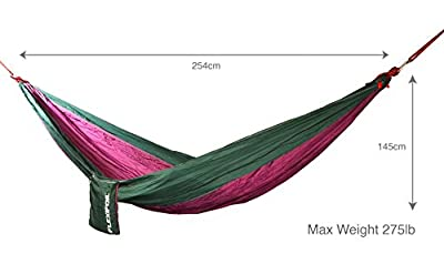Flexifoil Parachute 100% Nylon Fabric Hammock - Perfect for Outdoor Living, Camping, Backpacking & Travelling