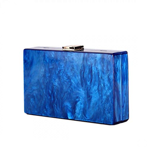 Azul Talla BEUWAY Rojo nica para Mano de Cartera Mujer Bqwqf48U
