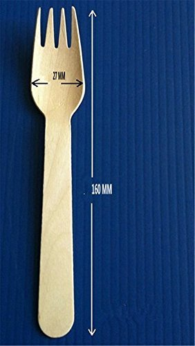 OliaDesign Disposable Wood Cutlery Silverware Forks (100 Piece), White by OliaDesign (Image #4)