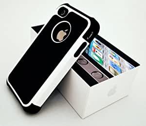 Imprue Apple iPhone 4 4S Hard Rubberized Silicone Case and Screen Guard-White