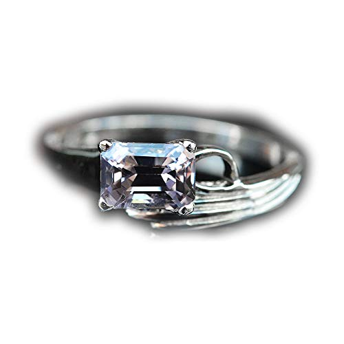 - Lovemom 10.29ct Natural Octagon Unheated Purple Spinel 925 Silver Ring 7US Myanmar #W