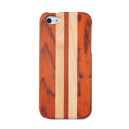 Handmade-Natural-Wood-Wooden-Hard-bamboo-Case-Cover-for-iPhone-5-with-free-screen-protectorrosewood-and-maple