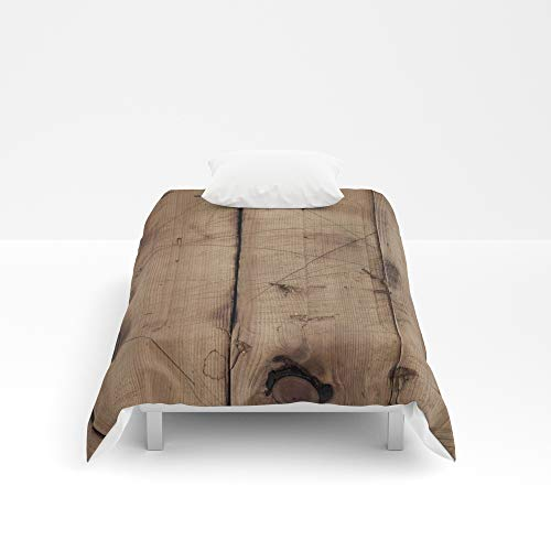 Society6 Comforter, Size Twin XL: 68'' x 92'', Burnt Woodgrain by rookzer0 by Society6 (Image #1)