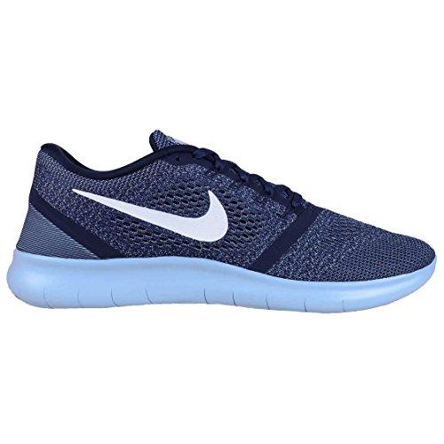 Nike Nike Free Rn, Sneaker uomo blu Mid Night Navy/White-Blue Cap