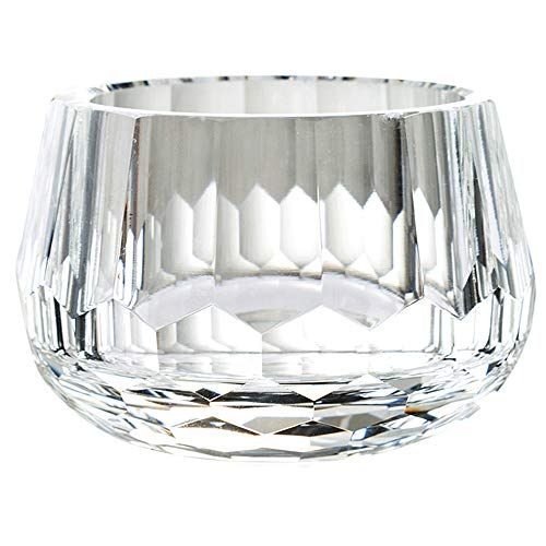 - Donoucls Crystal Candy Dish Hand Cut Glass Bowl Clear 2.4