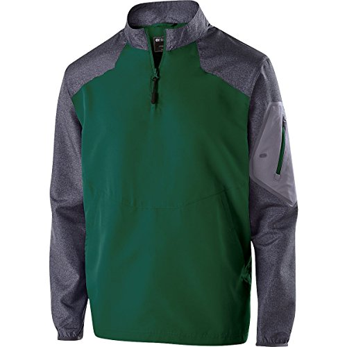 Holloway Sportswear Raider Pullover Windbreaker. 229155 Carbon Print / Forest L by Holloway