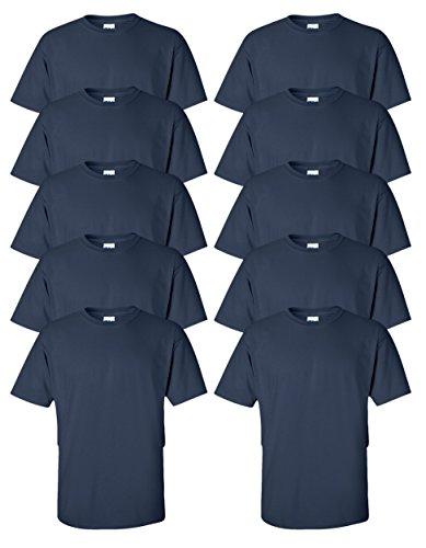 Gildan mens Ultra Cotton 6 oz. T-Shirt(G200)-NAVY-L-10PK