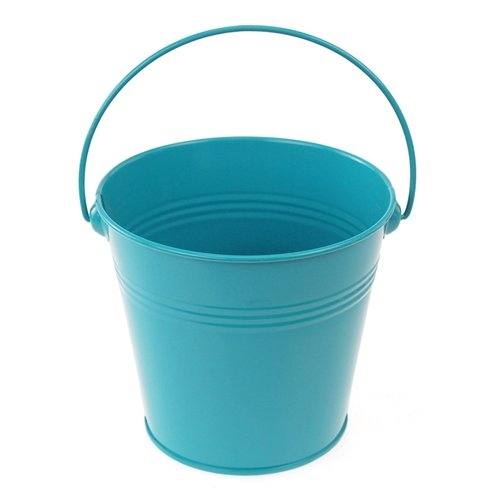 Homeford FCF041959TRQ Metal Pail Buckets Party Favor, 5