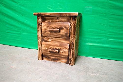 Cedar Log Dresser (Midwest Log Furniture - Torched Cedar Log Dresser - 2 Drawer)
