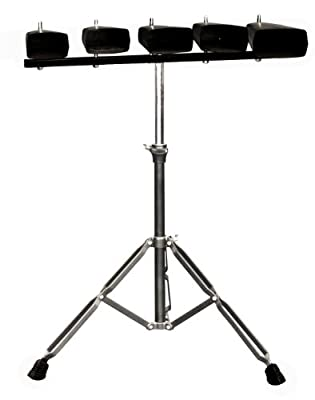 Kalos by Cecilio KP_CB-5P 5-Set of Cowbell with Stand by Cecilio Musical Instruments