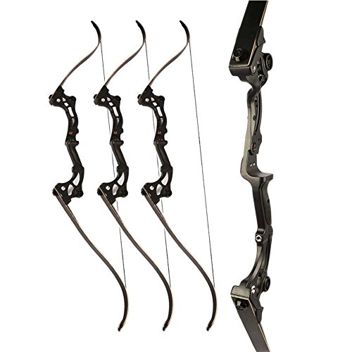 Junxing Recurve Bow LEFT or RIGHT HANDED Archery Kit Woods Riser Recurve Bow Youth (Right) (26)