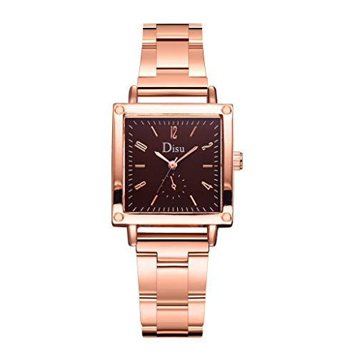 Watches for Women,Start_wuvi Womens Ladies Classic Simple Alloy Strap Analog Wrist Watch Stylish Square Dial Arabic Numerals Casual Dress Quartz Watches,Small Dial