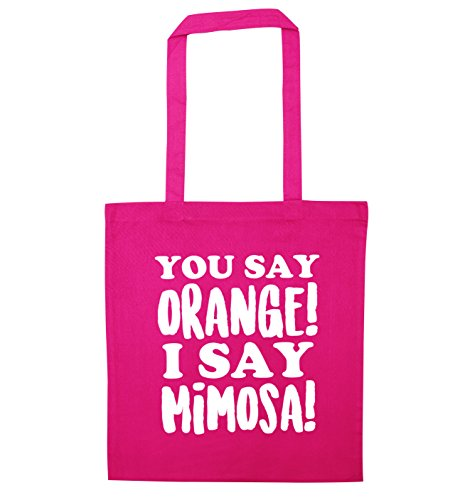 orange say Tote Creative mimosa say You Pink Bag Flox I R5vdwnq