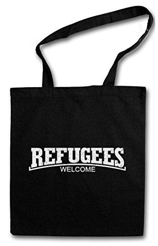 REFUGEES WELCOME III Hipster Shopping Cotton Bag Cestas Bolsos Bolsas de la compra reutilizables - Partido socialismo comunismo