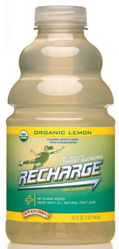 R.W. Knudsen Organic Recharge Lemon, 32-Ounce Packages (Pack of 12)