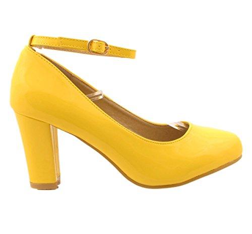 col Yellow Scarpe Gizelle Patent Donna Tacco qnf665C