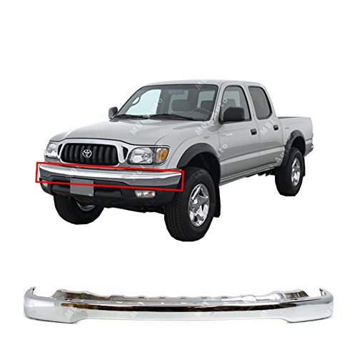 MBI AUTO - Chrome, Steel Front Bumper Face Bar Shell for 2001 2002 2003 2004 Toyota Tacoma Pickup 01 02 03 04, TO1002174 ()