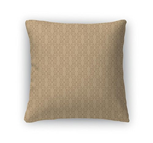Gear New Throw Pillow Accent Decor, Floral Pattern Flower Motif On White Elegant Wallpaper, 20