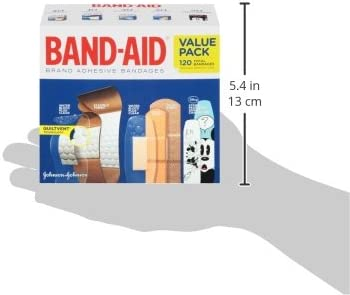 41lLDCsEt L. AC - Band-Aid Brand Adhesive Bandage Family Variety Pack In Assorted Sizes Including Water Block, Sport Strip, Tough Strips, Flexible Fabric And Disney Bandages For First Aid And Wound Care, 120 Ct
