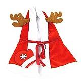 Legendog Christmas Pet Cape Hooded Warm Holiday Dog Costume Pet Apparel