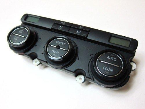 - Aluminium Bezel Set For HVAC Climatronic Dial Button Gloss Black Color For Volkswagen VW Golf Jetta MK5
