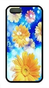 Cool Yellow Flowers Custom iPhone 5s/5 Case Cover TPU Black